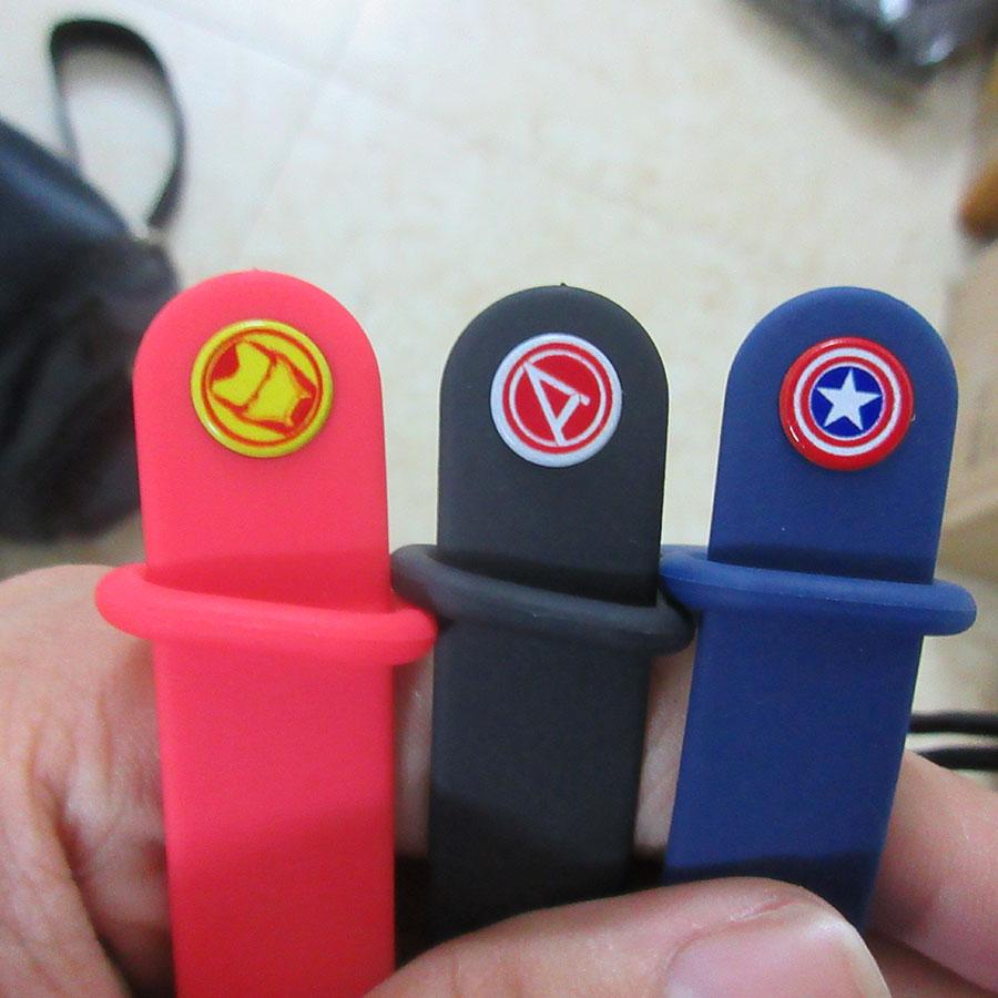 Dây đeo cao su phiên bản siêu anh hùng cho Mi Band 3, Mi Band 4