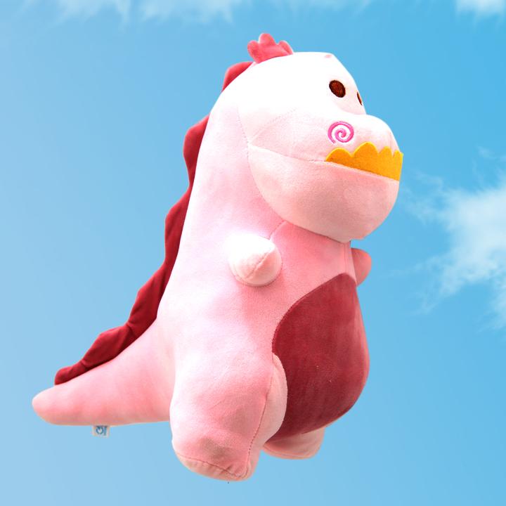 Gấu bông khủng long hồng cao cấp