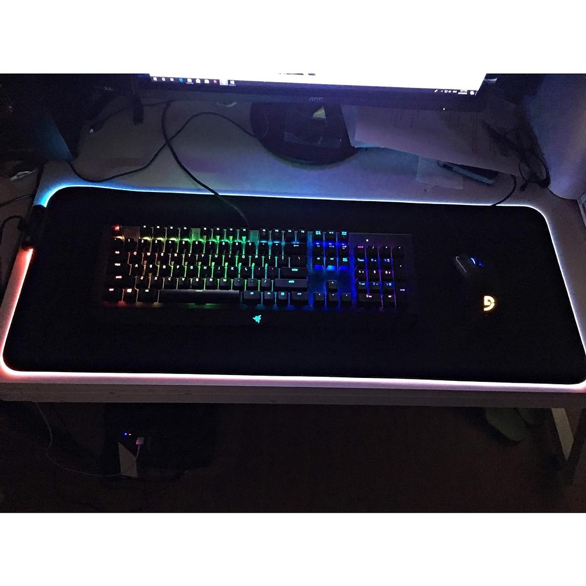 Miếng Lót Chuột Gaming RGB Bo Viền Led Sáng Cỡ Lớn (80 x 30 cm) - Bàn Di Chuột Chơi Game Led Nhiều Màu