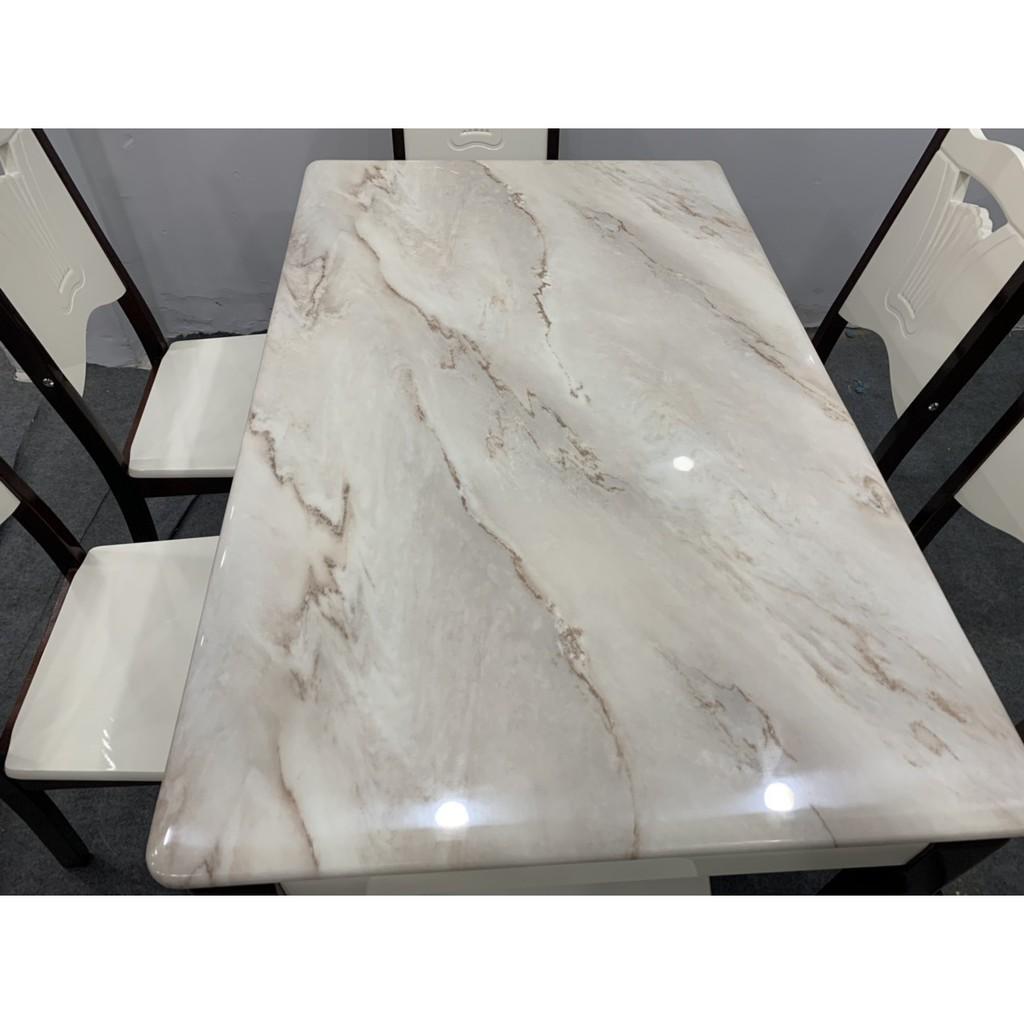 Bộ bàn ăn mặt đá nhập khẩu giá rẻ tại HCM 1M3 6 ghế