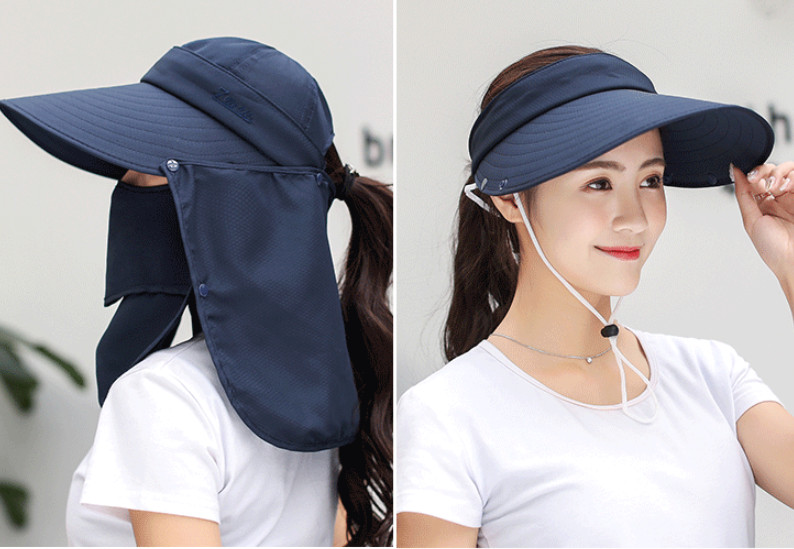 Mũ chống nắng kèm khẩu trang 360 độ cao cấp, nón chống nắng đa năng tạo kiểu