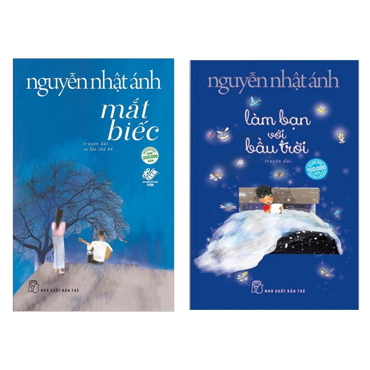 Combo Truyện Dài: Mắt Biếc + Làm Bạn Với Bầu Trời (Bộ 2 Cuốn Sách Mới Nhất Của Nguyễn Nhật Ánh - Tặng Kèm Bookmark Green Life)