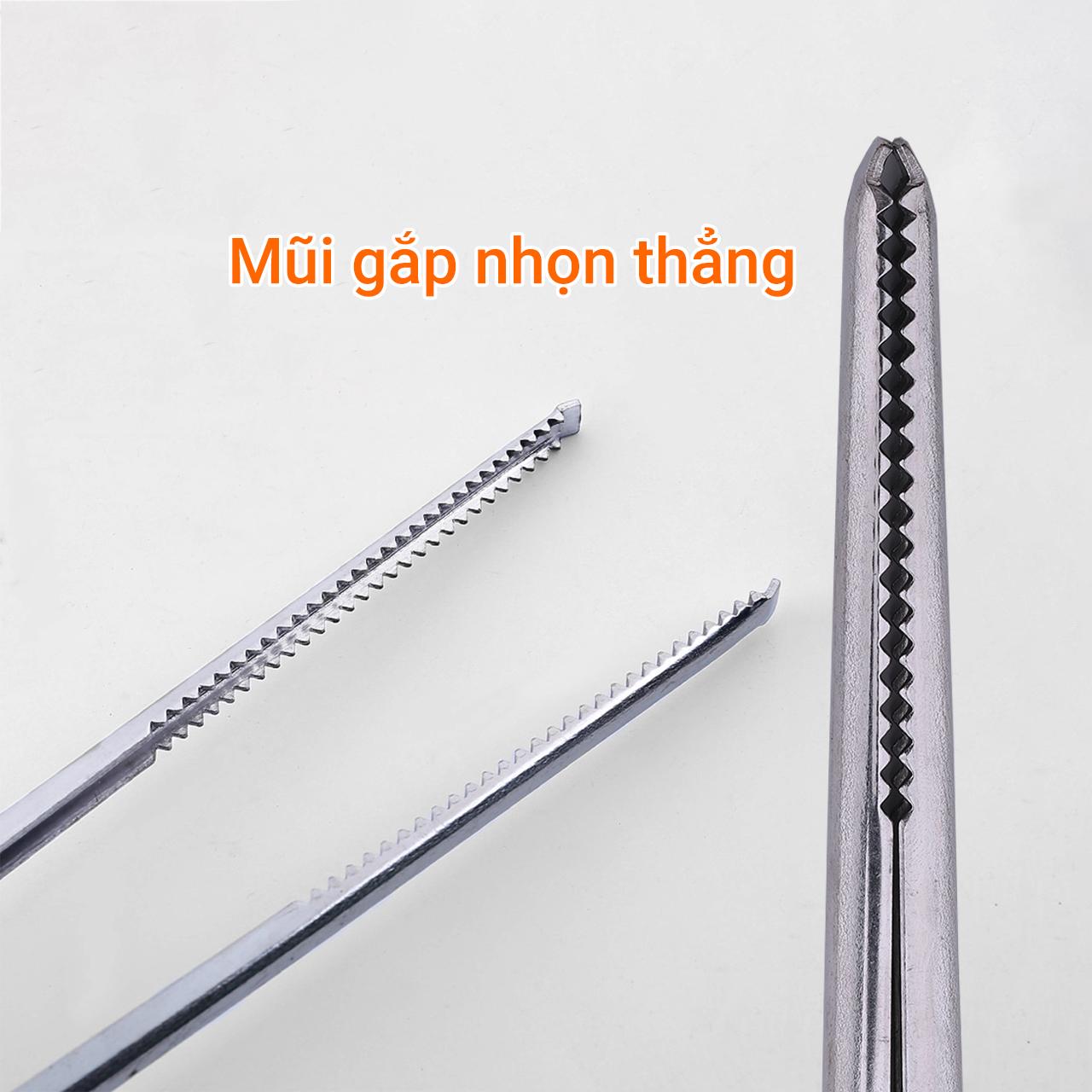 Kẹp gắp dài hình kéo mũi nhọn thẳng 52cm