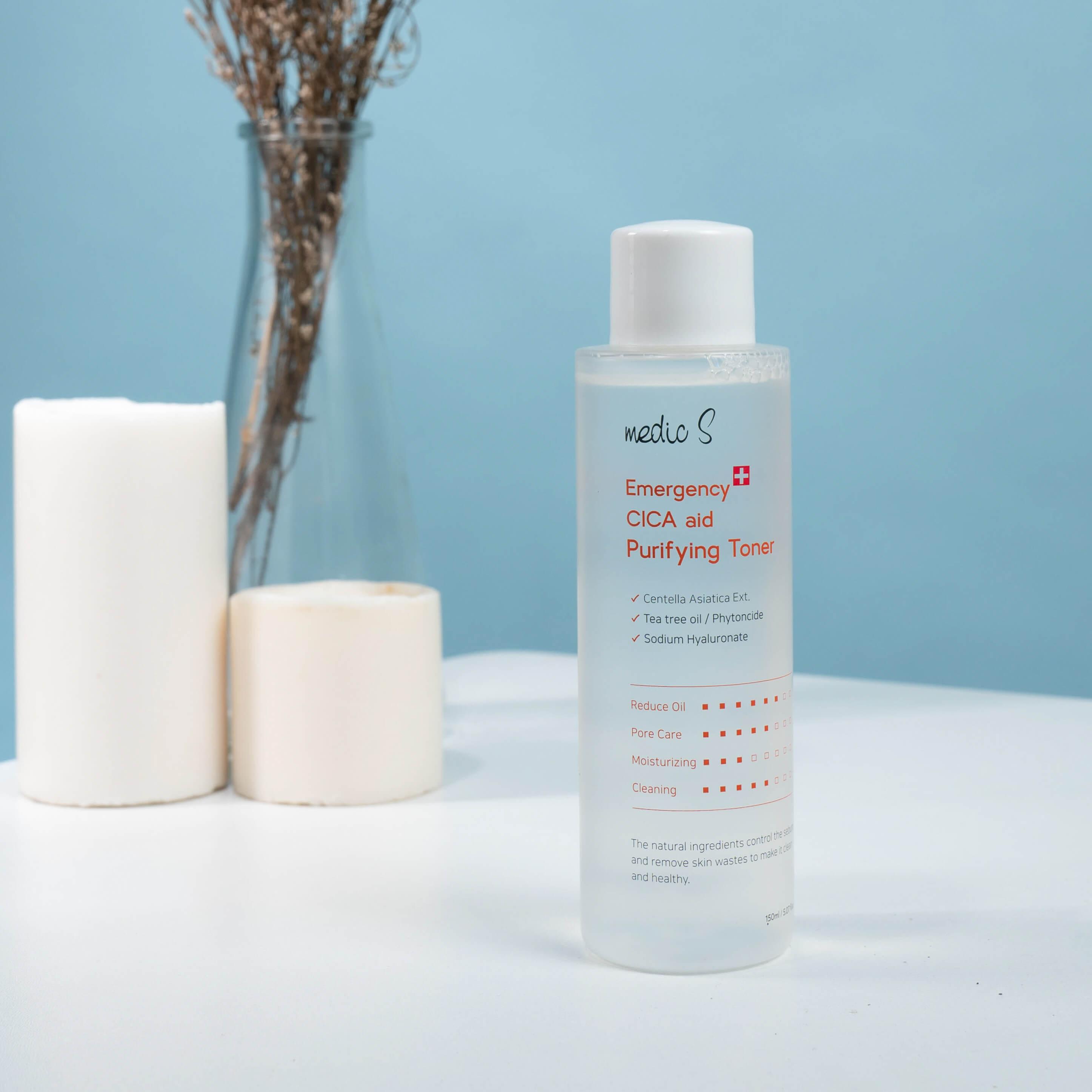 Toner nước hoa hồng làm sạch sâu, loại bỏ bụi bẩn trên da, giúp cân bằng độ ẩm da, giữ da săn chắc, mềm mịn, se khít lỗ chân lông Toner Medic S 150ml – Dành cho da dầu, da hỗn hợp thiên dầu