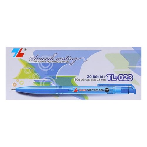 Hộp 20 bút bi 0.8mm TL-023 xanh