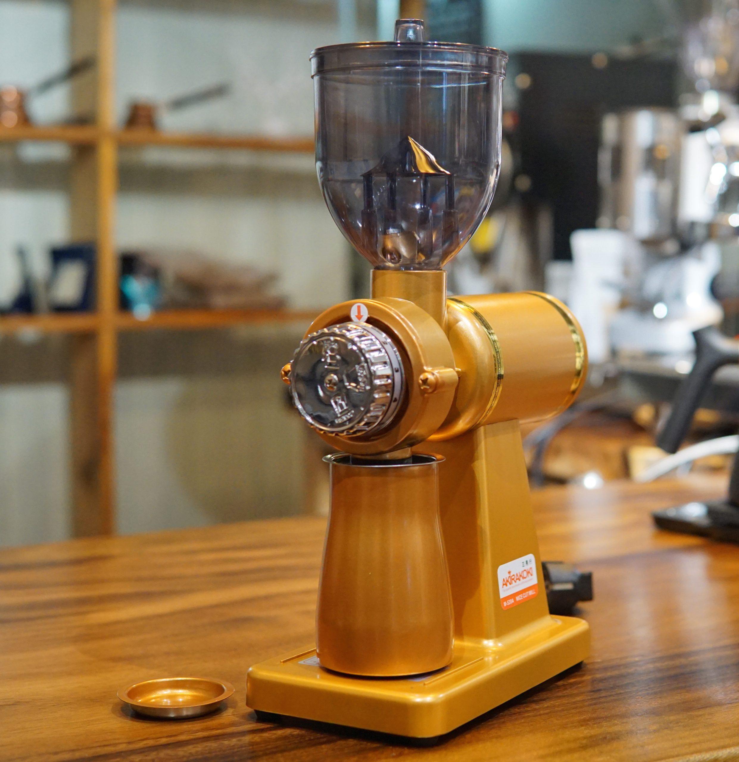 MÁY XAY CÀ PHÊ AKIRAKOKI COFFEE GRINDER SUPER M-520A ORANGE - HÀNG CHÍNH HÃNG