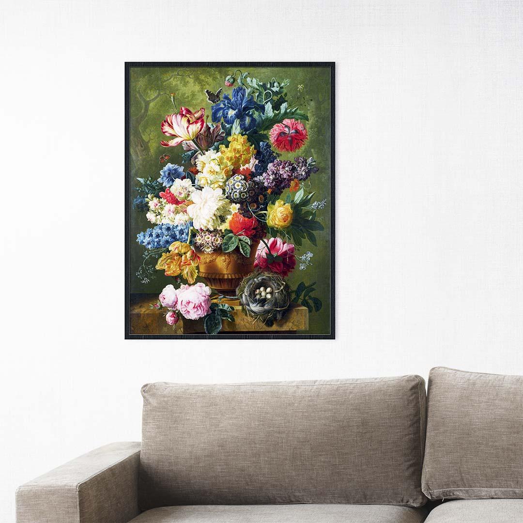 Tranh canvas treo tường bình hoa hồng - BH013