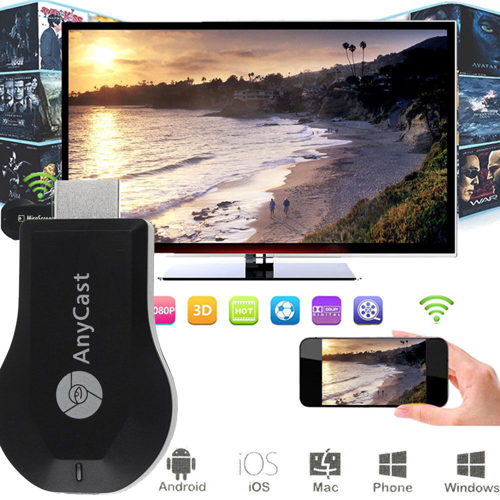 HDMI không dây Anycast M9 Plus 5in1 - hỗ trợ GOOGLE HOME (Hàng nhập khẩu)