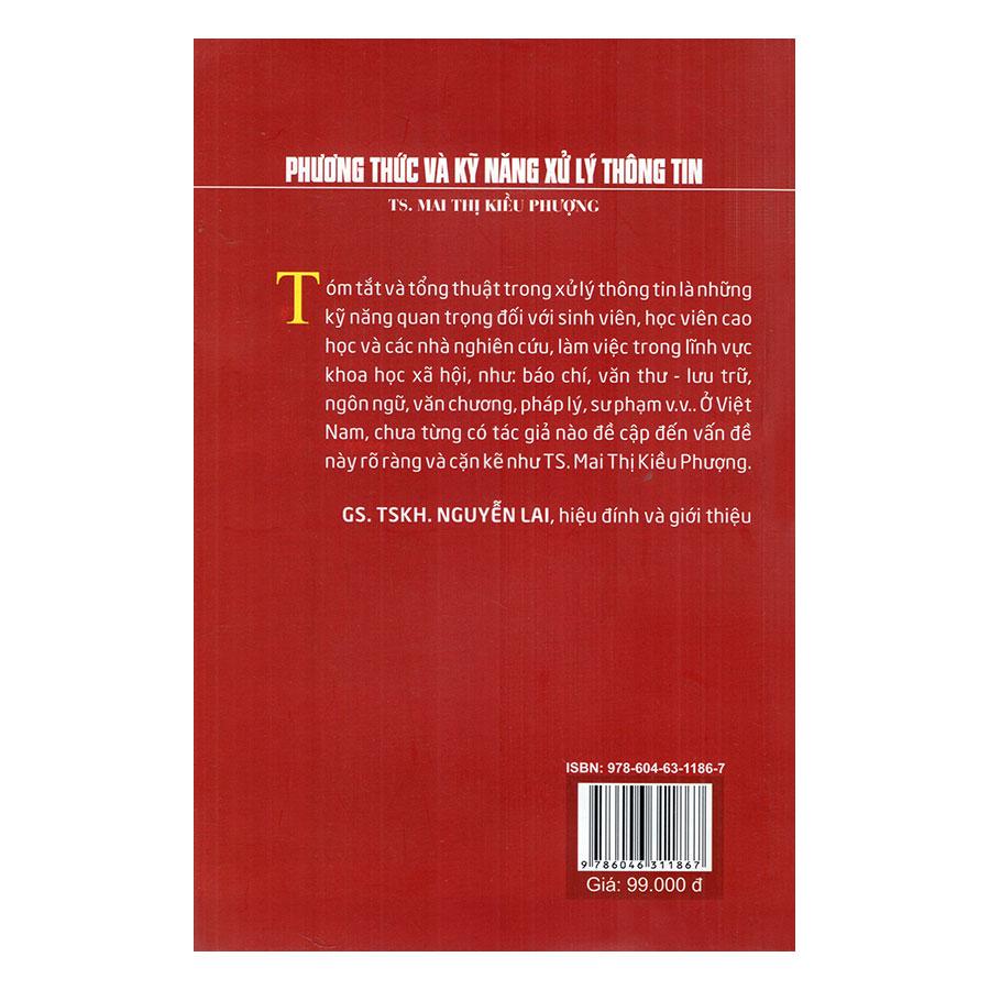 Phương Thức Và Kỹ Năng Xử Lý Thông Tin - Sách Kỹ Năng Tóm Tắt Và Tổng Quát Khi Tiếp Nhận Các Văn Bản Khoa Học Tự Nhiên Và Xã Hội