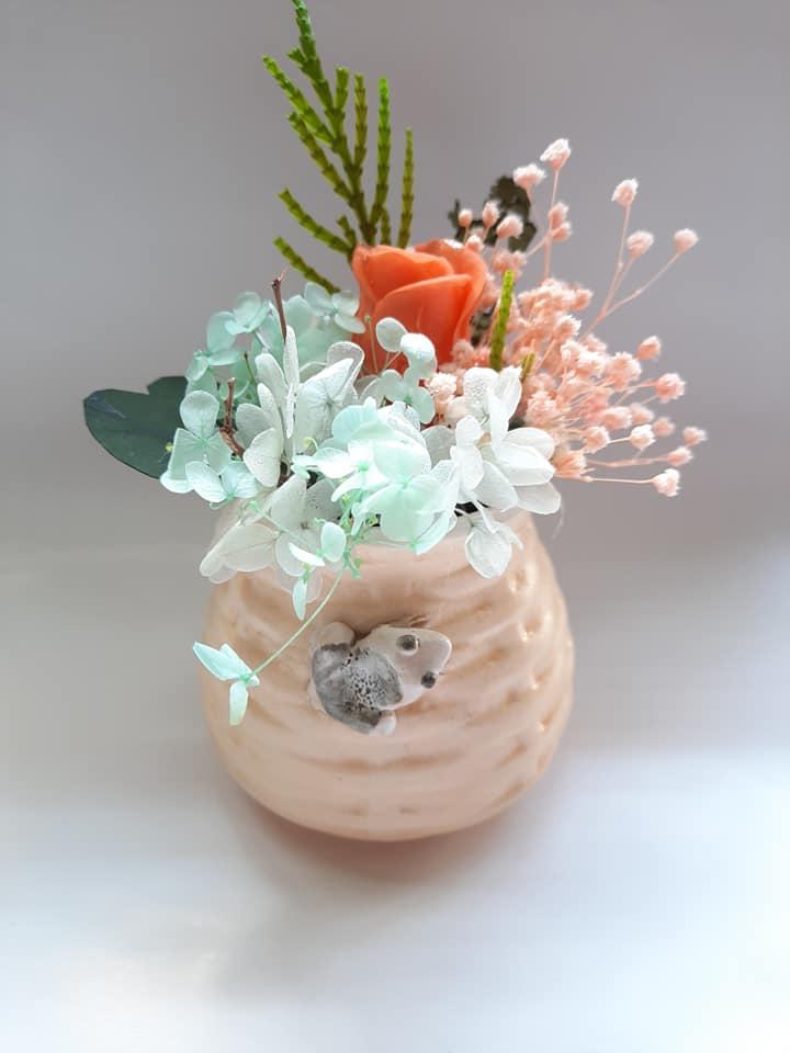 Bình hoa khô Chú ếch con