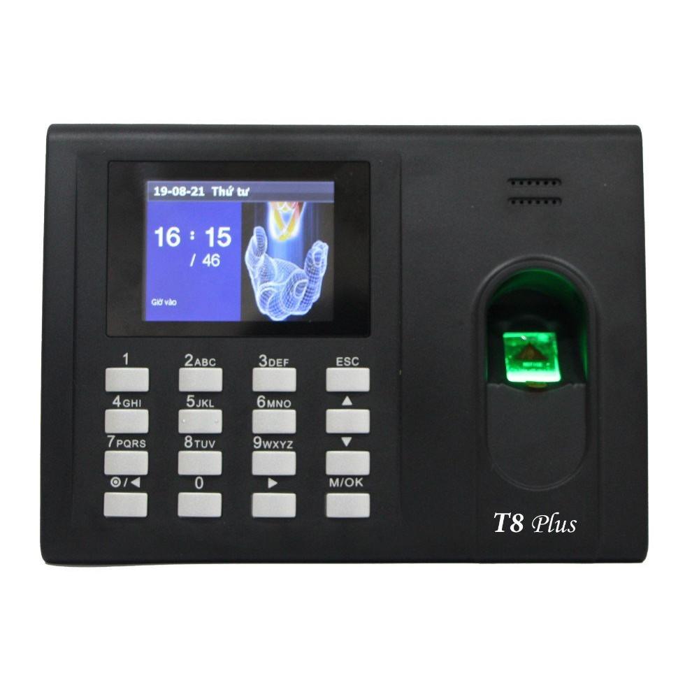 Máy chấm công vân tay thẻ cảm ứng Ronald Jack T8 Plus - Hàng Chính Hãng