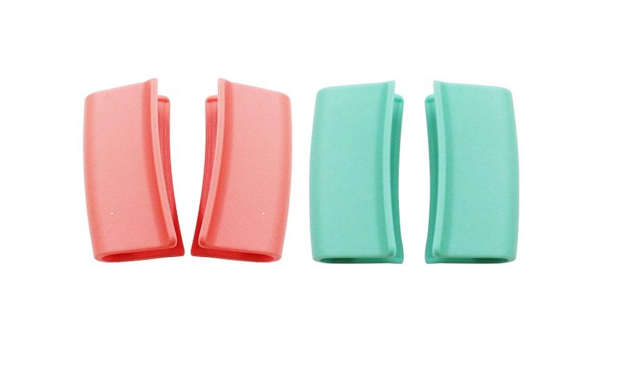 Bộ 4 nồi bằng đá Ceramic: nồi 1 tay cầm 18cm, Nồi 2 tay cầm 20-22-24cm tặng 1 cặp nhấc nồi sillicon (Nồi)