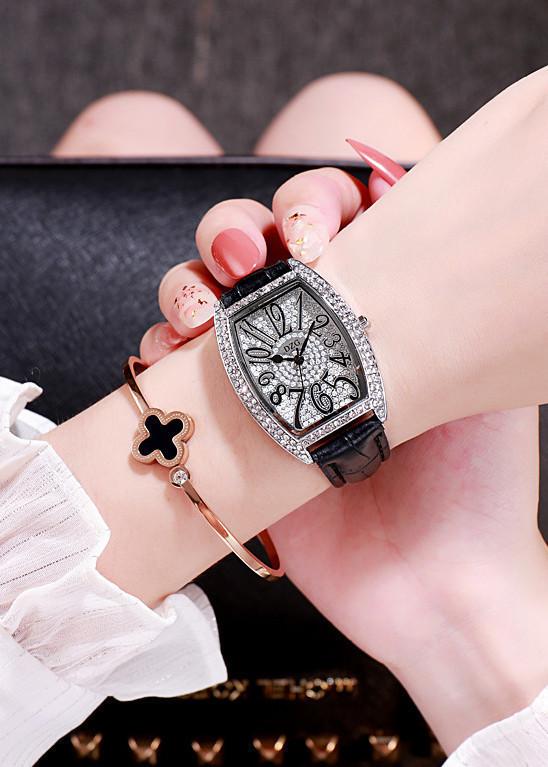 Đồng hồ kèm lắc tay mặt đính đá