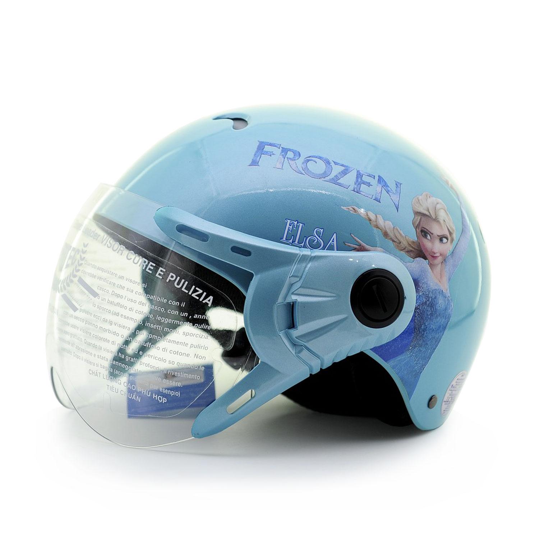 Mũ Bảo Hiểm Trẻ Em 1/2 Đầu Có Kính Protec Kitty Họa Tiết Nữ Hoàng Băng Giá Frozen Thời Trang, An Toàn, Chất Lượng - Hàng Chính Hãng - Màu Xanh
