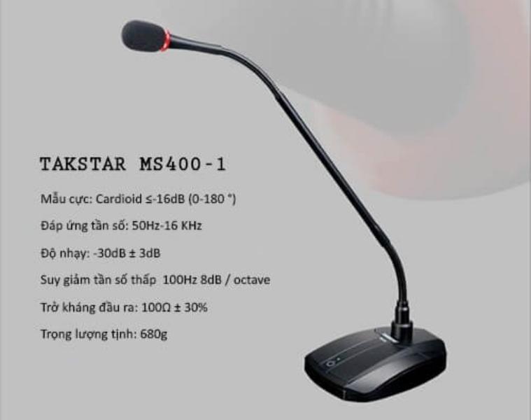 Micro Hội Nghị Takstar MS 400-1 - Hàng Chính Hãng