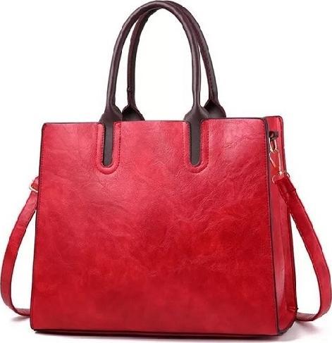 Túi xách tay nữ công sở mẫu form đứng 2019, có dây đeo chéo - Đỏ