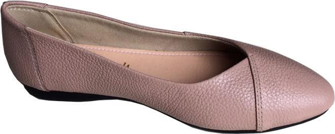 Giày búp bê Trường Hải màu hồng phấn da bò thật mềm mại đê cao su không trơn trượt  BB088 [HÌNH ẢNH THẬT ]