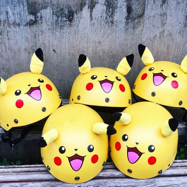 Nón Bảo Hiểm Hình Thú Pikachu Siêu Chất
