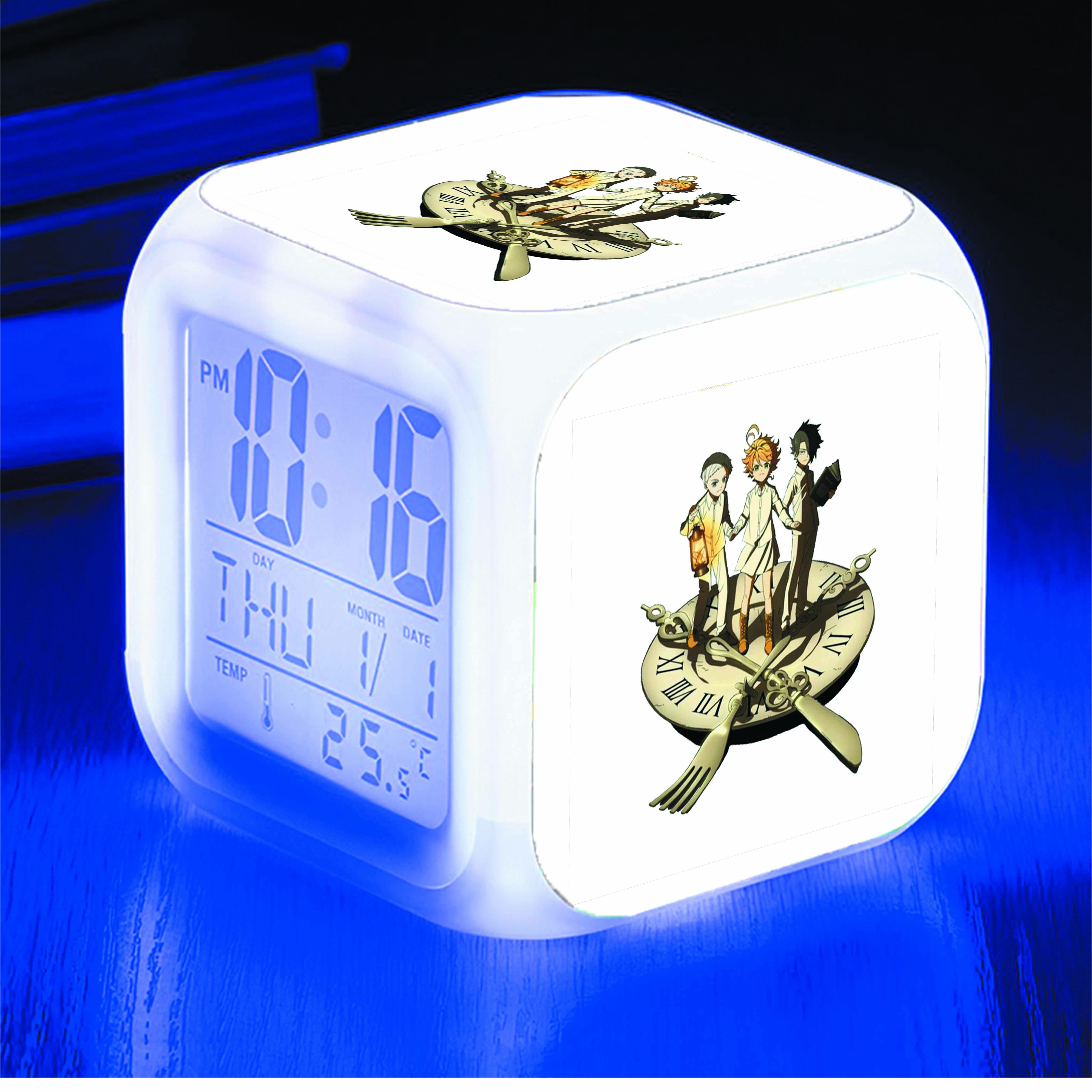Đồng hồ báo thức để bàn IN HÌNH The Promised Neverland - Miền Đất Hứa anime
