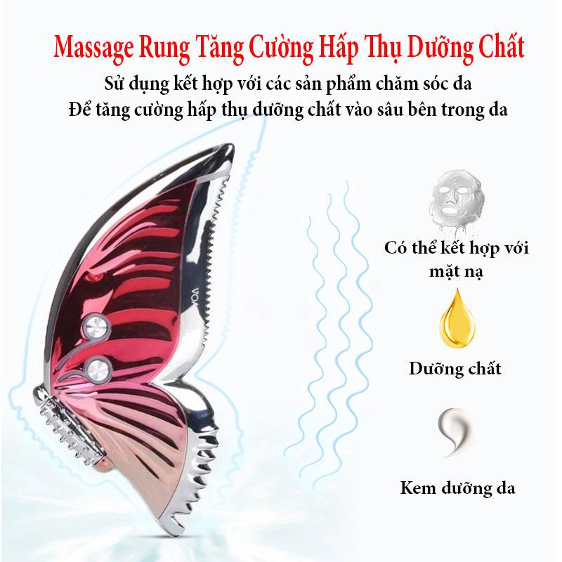 Máy Massage Nâng Cơ Mặt V line K-SKIN Thế Hệ Mới Cánh Bướm, Giúp Trẻ Hóa Da Mặt, Giúp Giảm Nếp Nhăn Trên Mặt Nâng Cơ Mặt 3D - Hàng Cao Cấp Chính Hãng