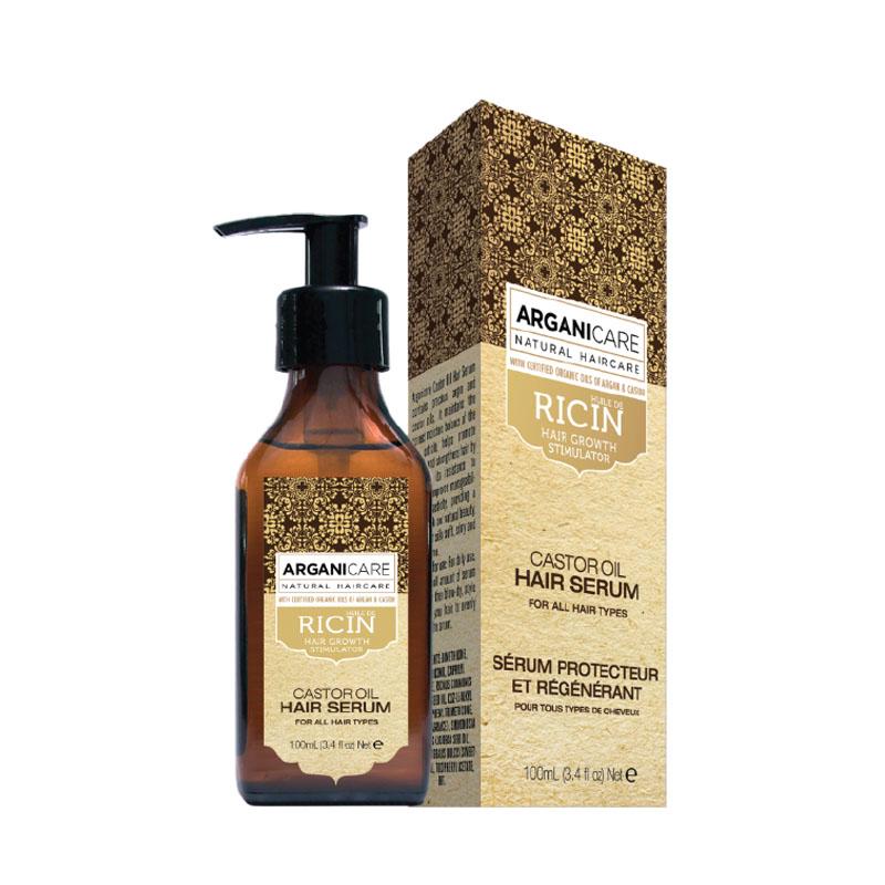 TInh dầu dưỡng tóc ARGANICARE Castor Hair Serum for All hair types 100ml