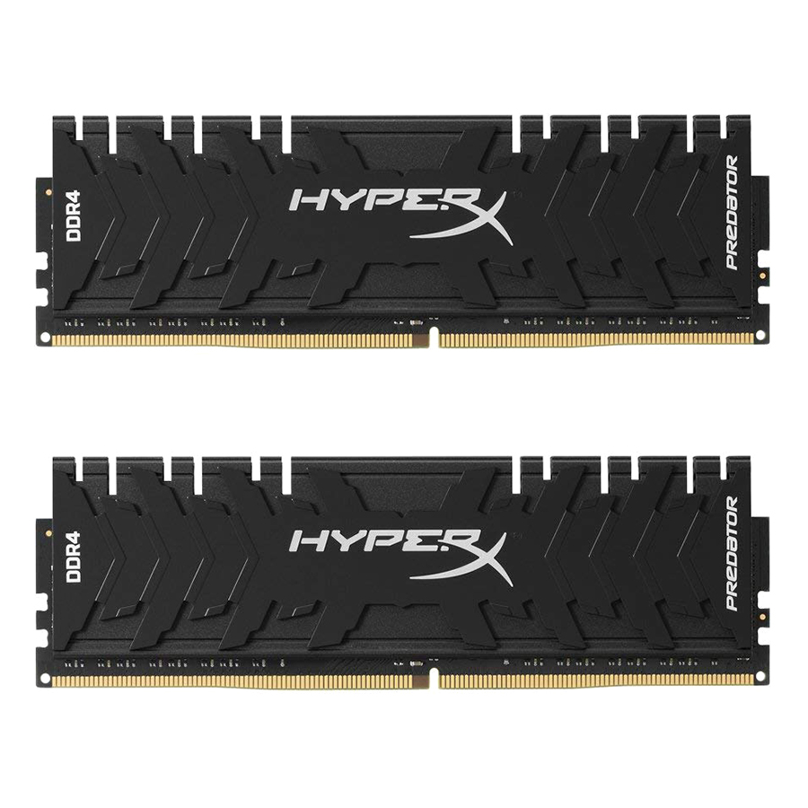 Bộ 2 Thanh RAM PC Kingston 16GB HyperX Predator Black (2 x 8GB) DDR4 3000MHz HX430C15PB3K2/16 - Hàng Chính Hãng