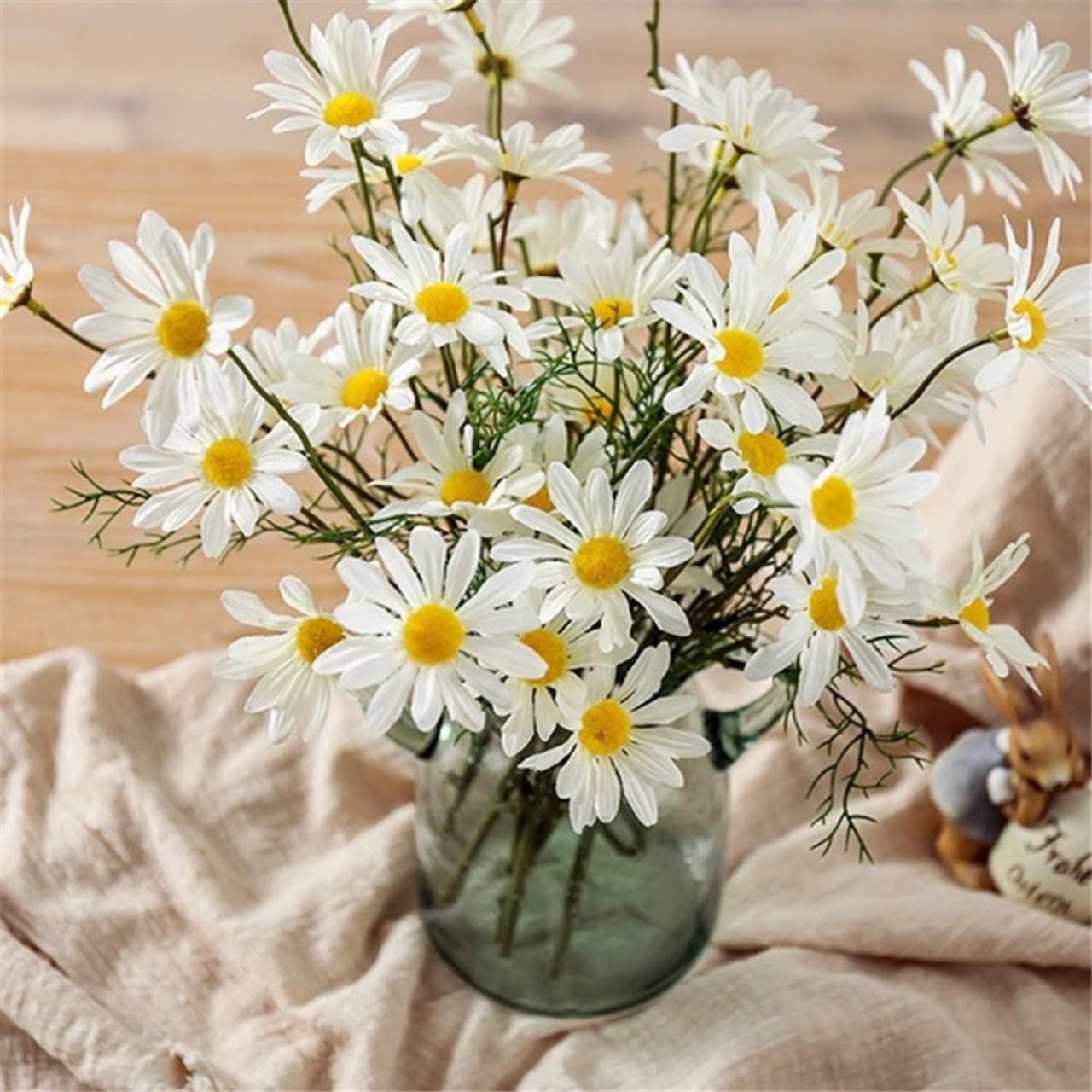 Hoa giả - Combo 10 cành Hoa Cúc Họa Mi Hà Lan Siêu Đẹp