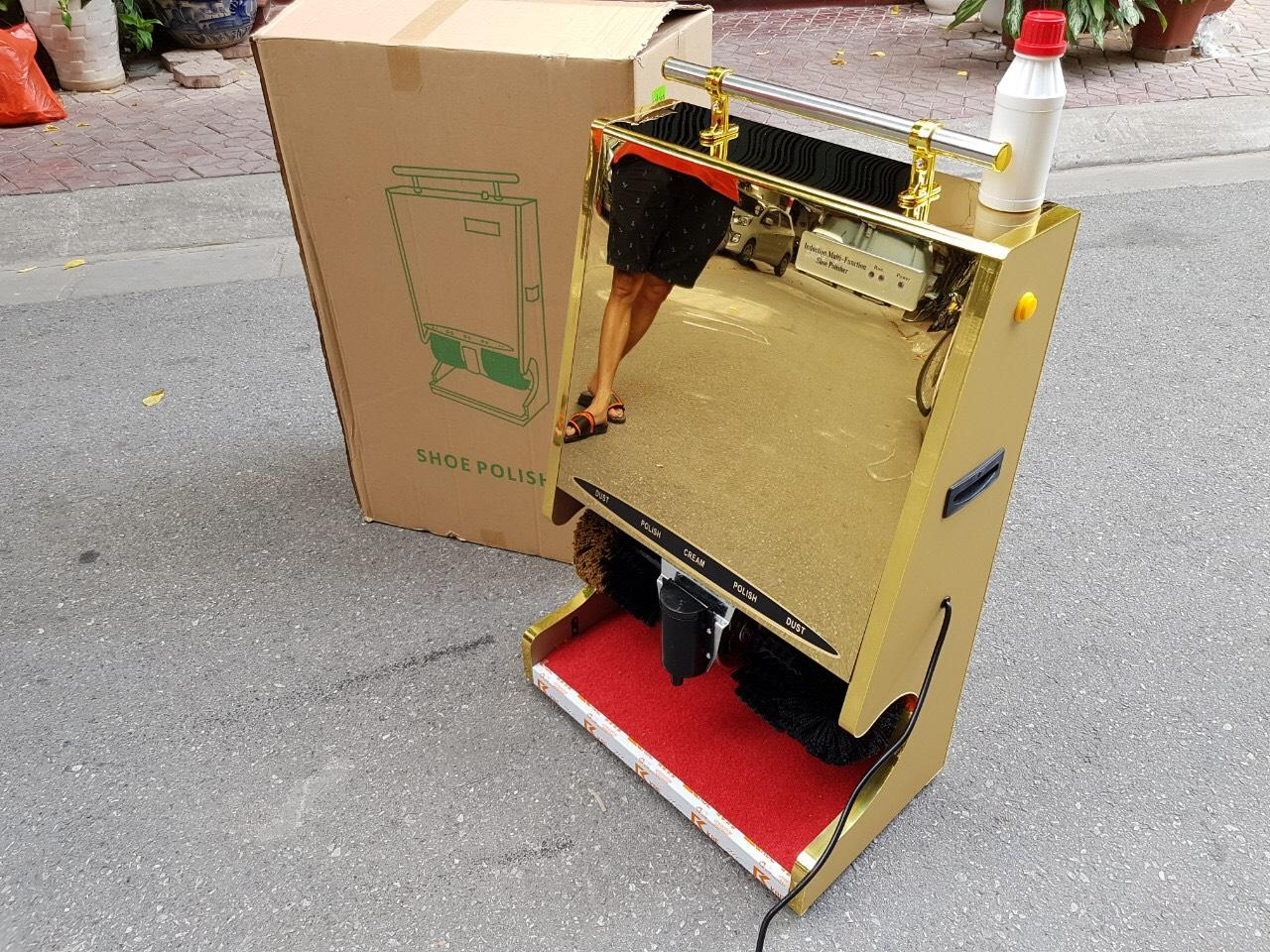 Máy đánh giầy tự động G1 để sảnh khách sạn, tòa nhà quân đội, ngân hàng,..