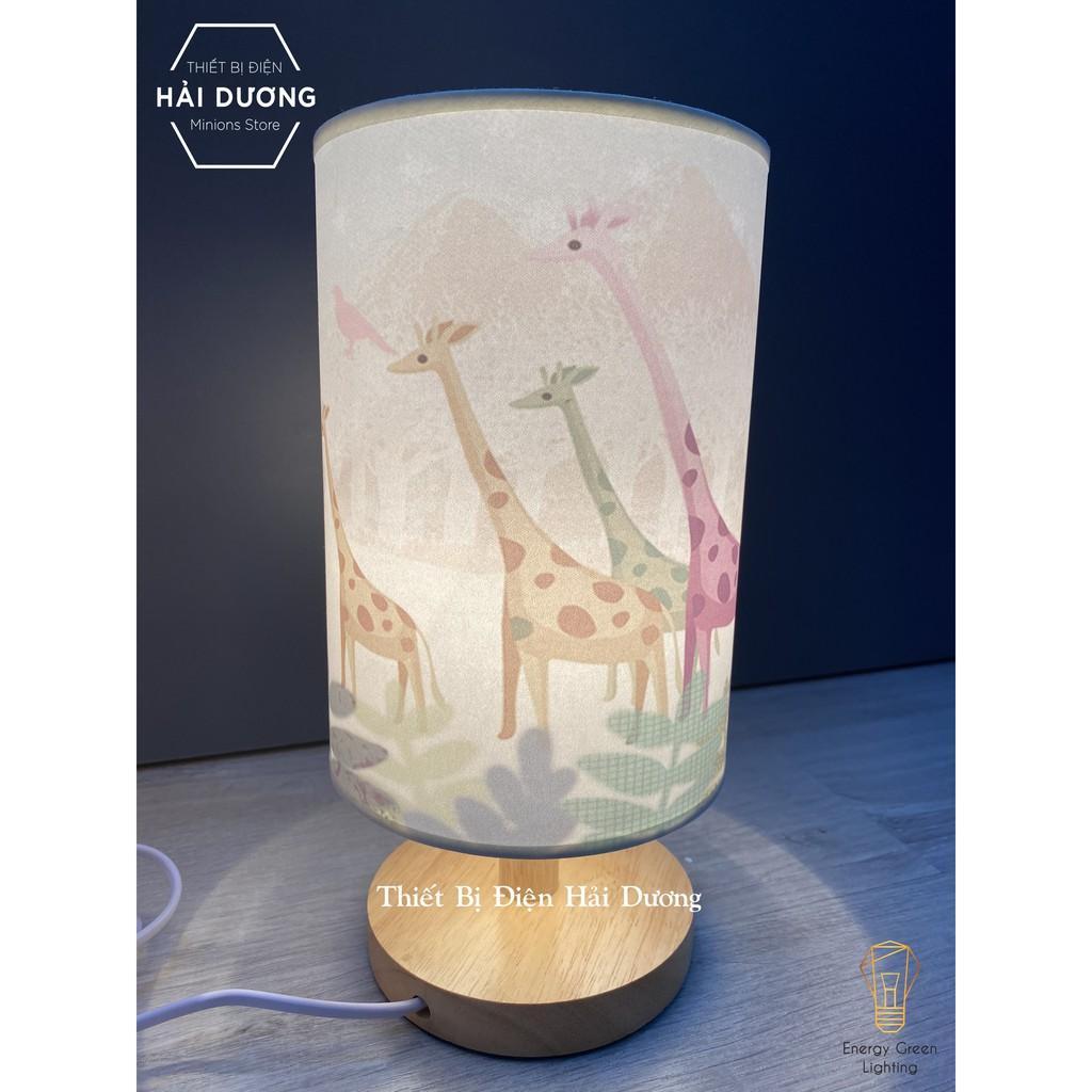 Đèn Bàn Trang Trí Kiểu Dáng Cổ Điển Thân Gỗ DB-616 9 Mẫu Phong Cảnh Thiên Nhiên - Đã Bao Gồm Bóng -Energy Green Lighting