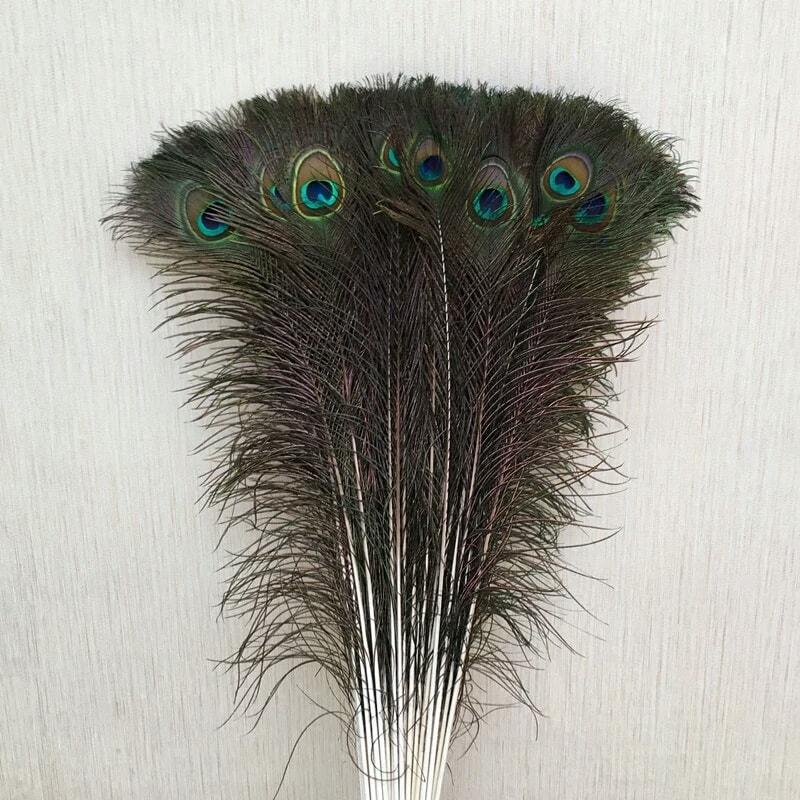 Combo 40 lông công tự nhiên dài 80cm