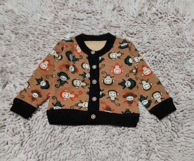 (9-24 tháng) áo khoác nỉ bông bé trai