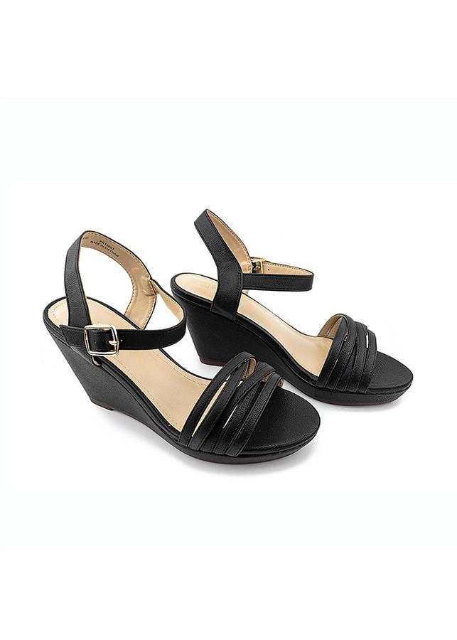Giày Sandal Cao Gót Nữ PABNO PN13003, Đế Xuồng Cao 9cm, Chất Da Mềm, Quai Ngang Mảnh Thời Trang, Cá Tính