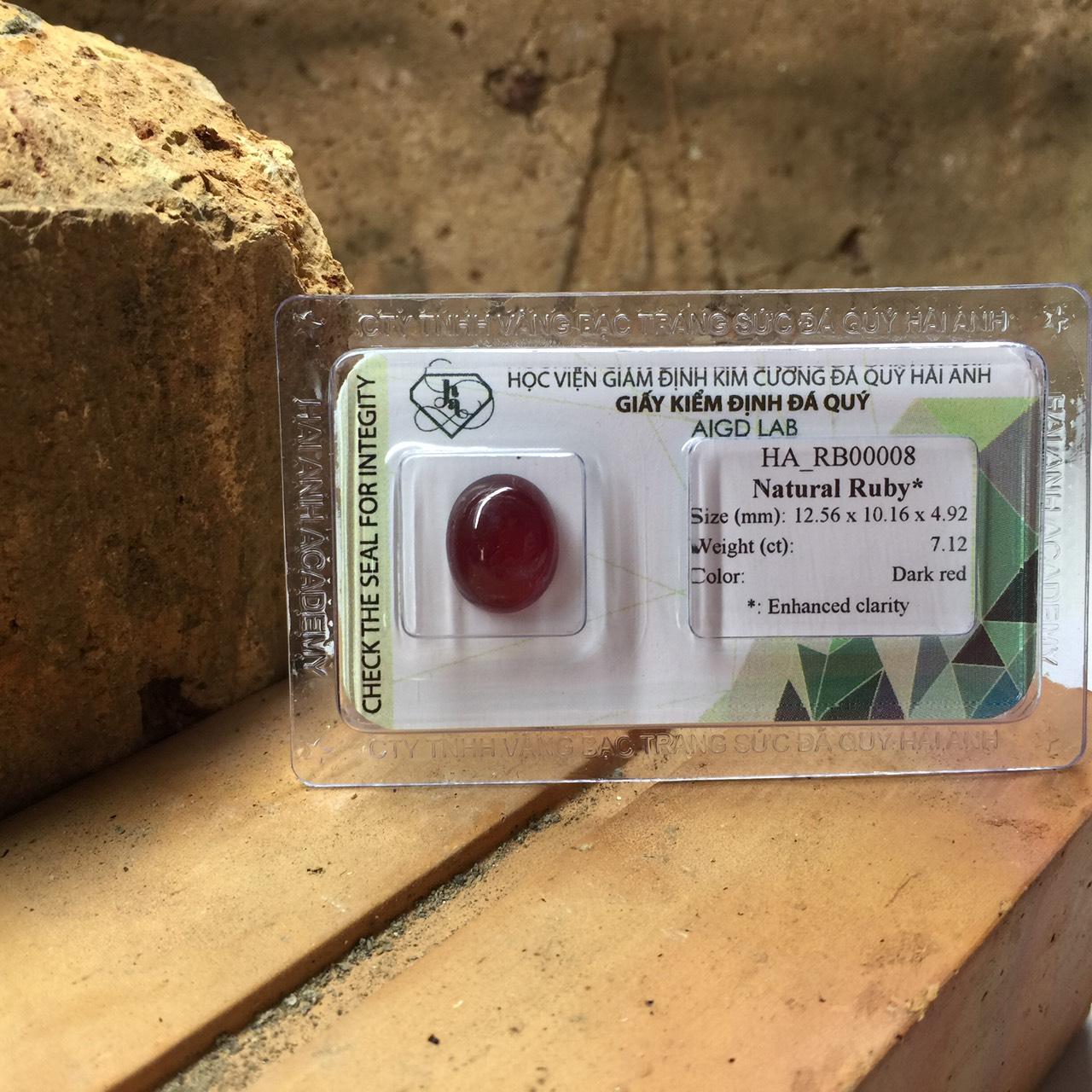 Viên đá Ruby thiên nhiên_HA-RB00008