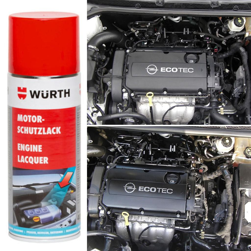 Chai xịt phục hồi và phủ bảo vệ khoang máy ô tô chuyên dụng Wurth WU-KM400