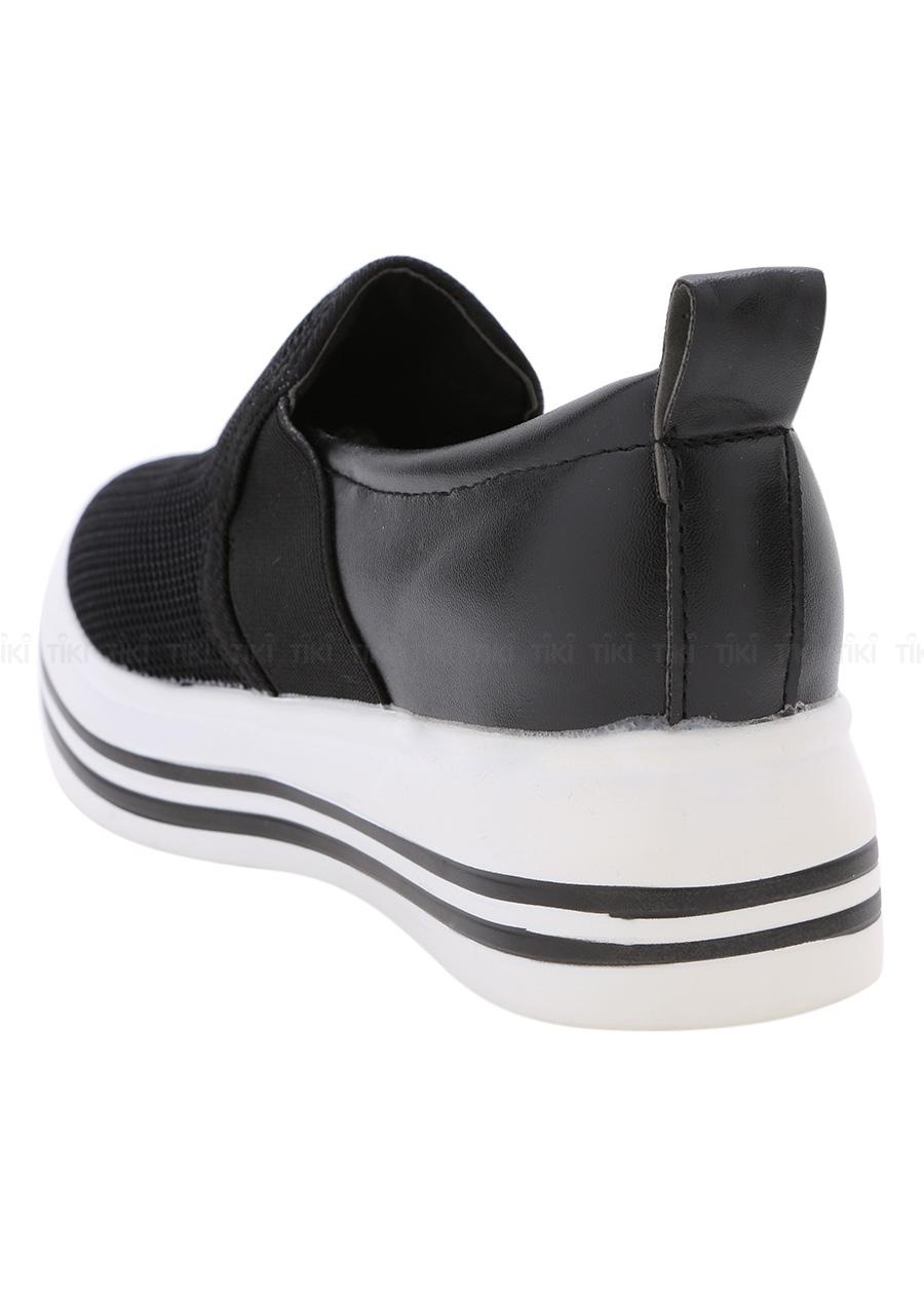 Giày Lười Nữ Slip On Độn Đế Vạch Kẻ Hapu
