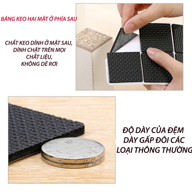 Bộ 48 Miếng Dán Tròn 2.2cm dán chân bàn ghế chống trượt, bảo vệ sàn nhà kèm keo dán