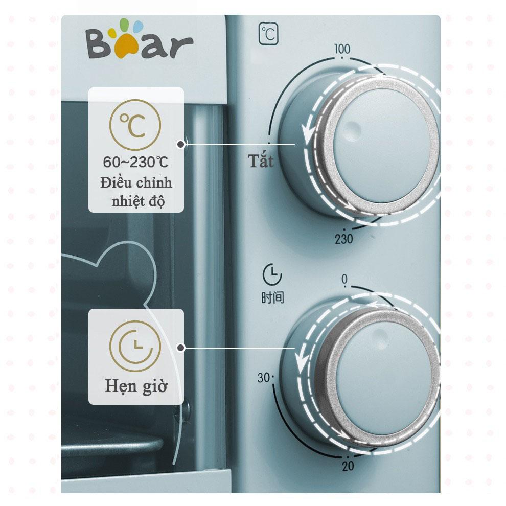 Lò Nướng Điện Đa Năng Bear Màu Pastel D11K3 Dung Tích 11L - Hàng Chính Hãng