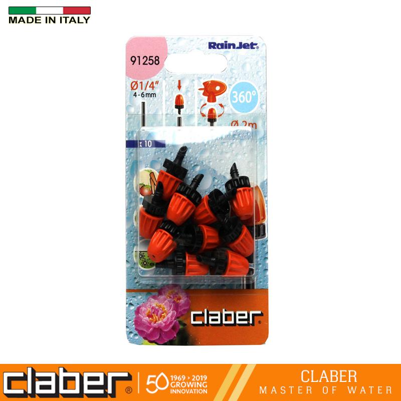 Vòi phun sương mù 360°, 1 hộp=10 cái Claber 91258