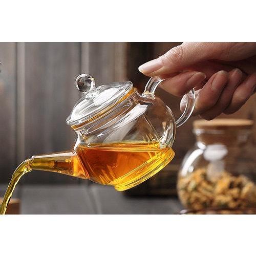 Ấm pha trà thủy tinh chịu nhiệt trong suốt  260ml - ANTH483