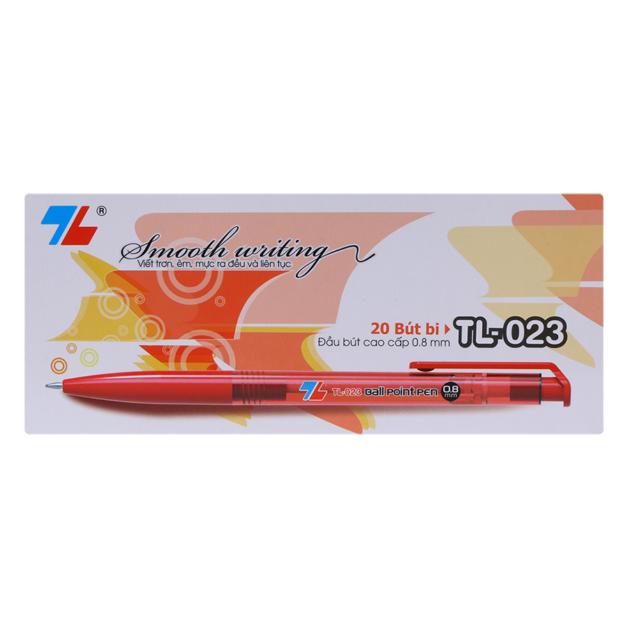 Hộp 20 Bút Bi Thiên Long TL-023 - Đỏ