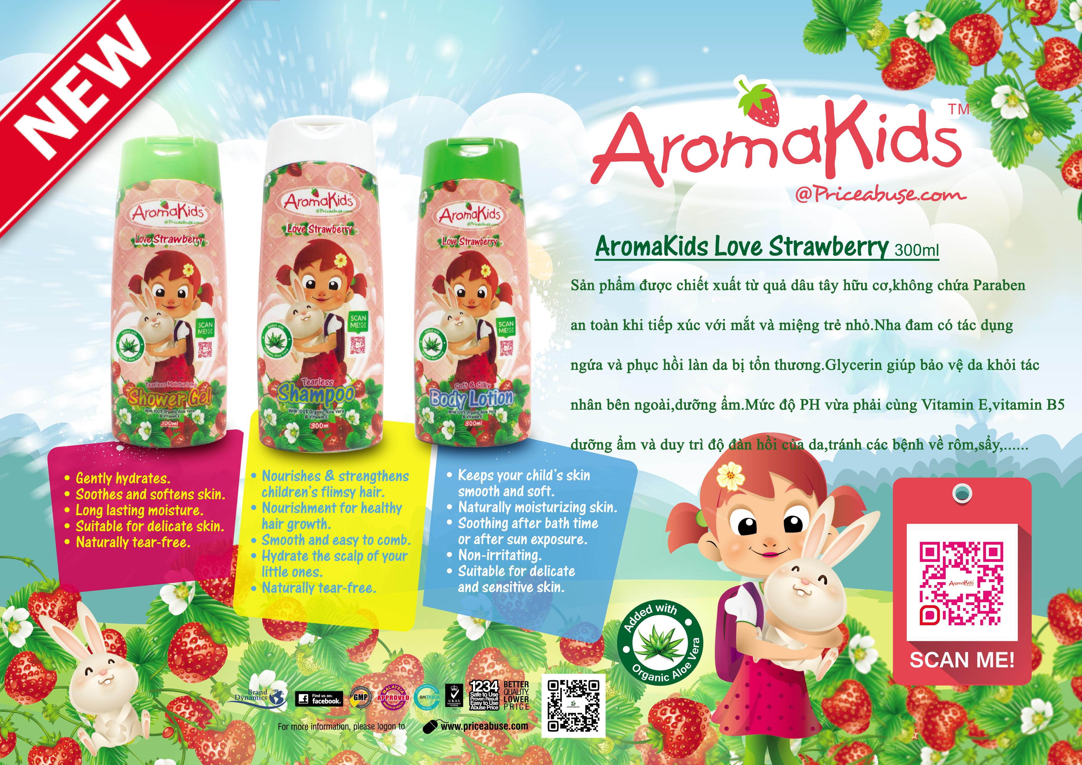 Sữa tắm hữu cơ dành cho trẻ 01 tuổi trở lên- Aromakids