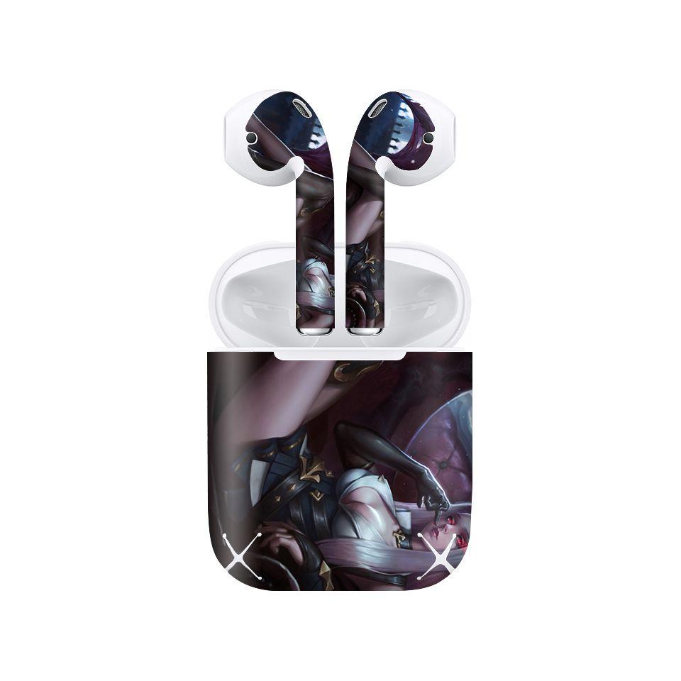 Miếng dán skin chống bẩn cho tai nghe AirPods in hình Liên Quân - Veera - LQM021 (bản không dây 1 và 2)