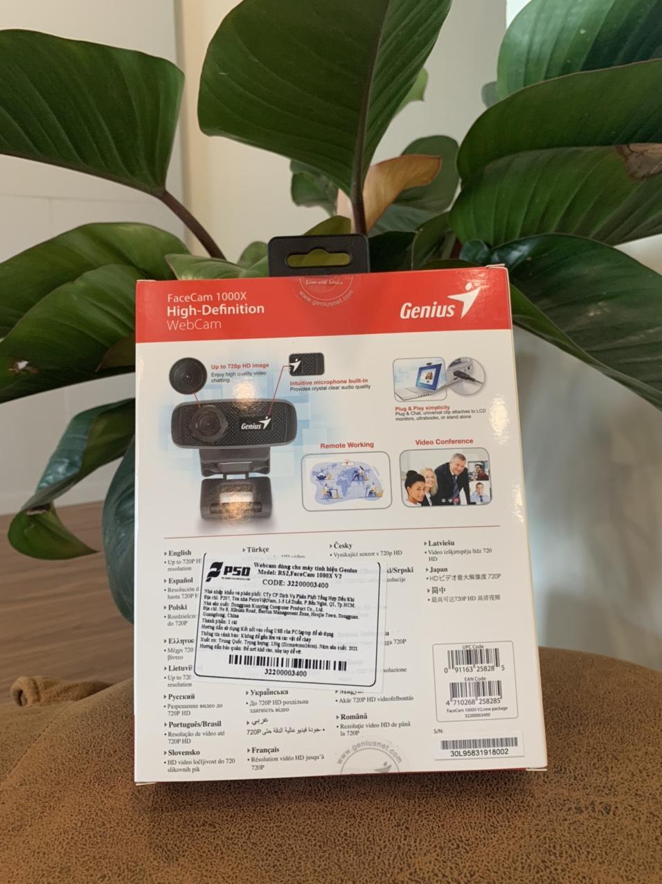Webcam Genius Facecam 1000X độ phân giải HD - Hàng chính hãng - Webcam máy  tính | PhongVuPC.Com