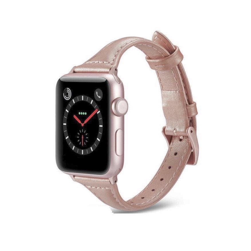 Dây da bản nhỏ thời trang dành cho Apple Watch size 38/40