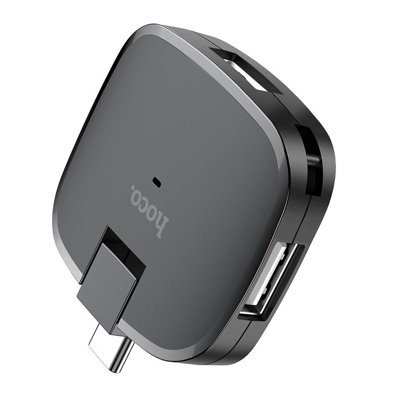 Bộ Chuyển Hoco HB11 Type-C Sang 3 cổng USB 2.0 - Hàng chính hãng