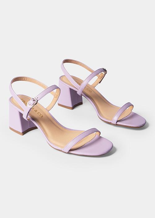 Giày cao gót Erosska thời trang mũi hở quai mảnh phối dây tinh tế cao 5cm GEM019