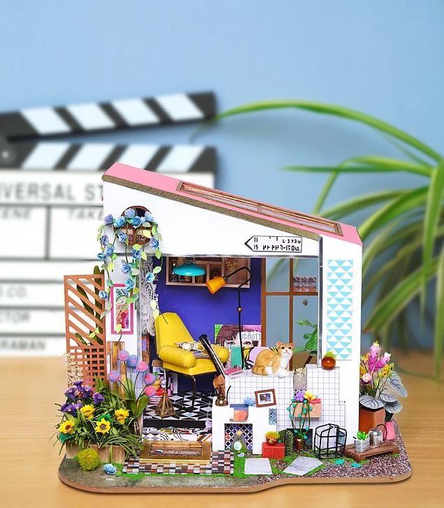 Mô hình Nhà Gỗ DIY Tự Lắp Ráp -Khu vườn của LiLi  (Siliglue 60ml +Công Cụ)