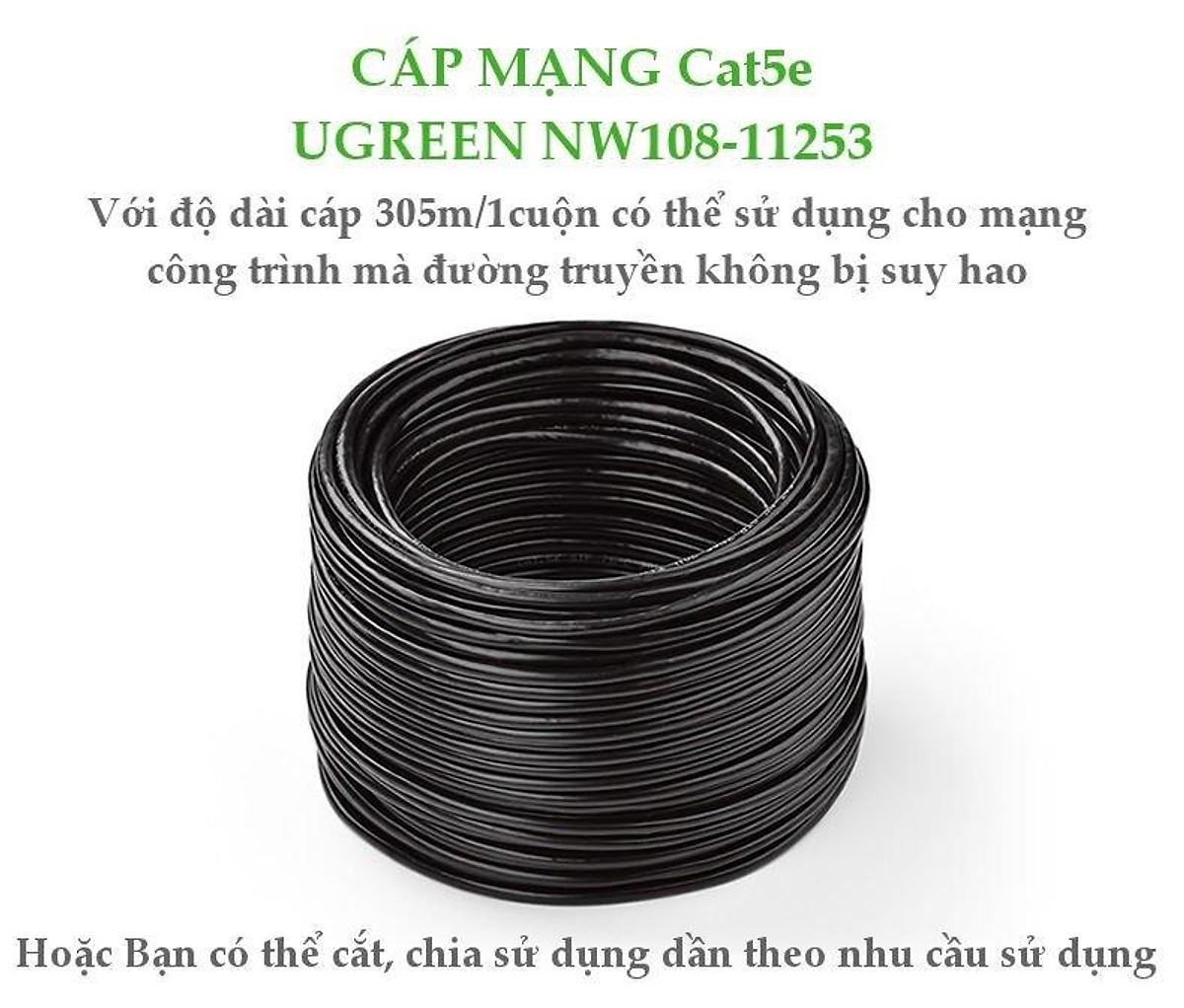 Cat6 Utp Lan Cable 305M Nw109 - 11259 Ugreen - Hàng Chính Hãng