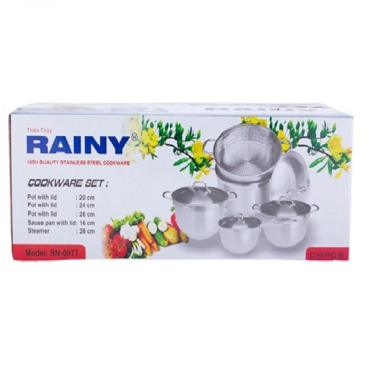 Bộ 5 nồi xửng inox Rainy-RN09T - Hàng Chính Hãng