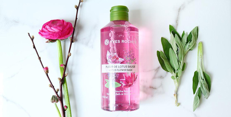 Gel Tắm Và Gội Yves Rocher Relaxing Bath And Shower Gel Lotus Flower Sage 400ml